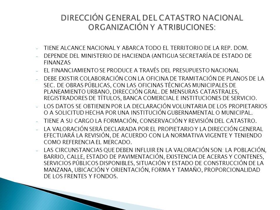 - TIENE ALCANCE NACIONAL Y ABARCA TODO EL TERRITORIO DE LA REP. DOM. - DEPENDE DEL MINISTERIO DE HACIENDA (ANTIGUA SECRETARÍA DE ESTADO DE FINANZAS -