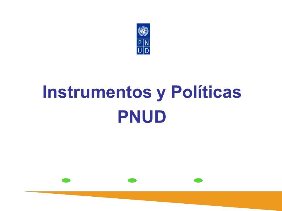 Instrumentos y Políticas PNUD