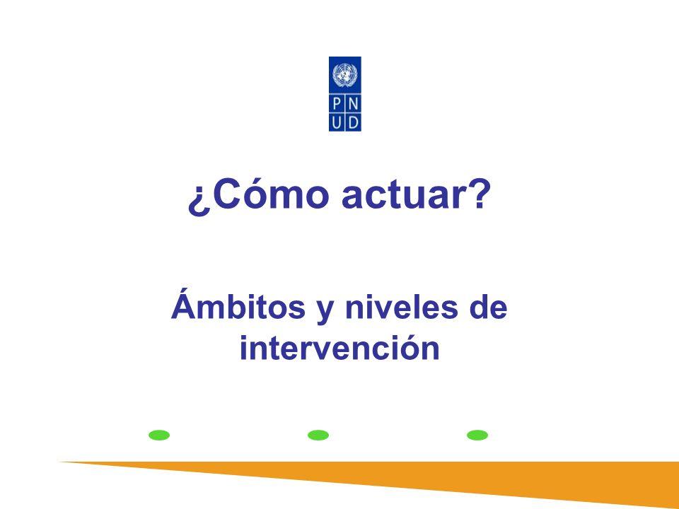 ¿Cómo actuar? Ámbitos y niveles de intervención