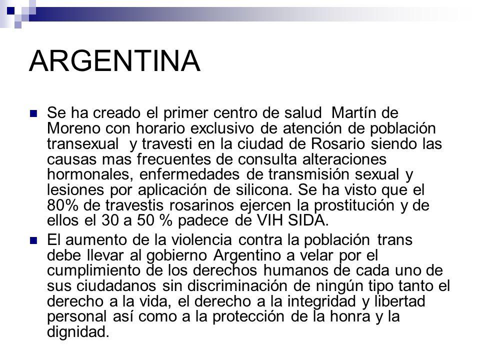 ARGENTINA Se ha creado el primer centro de salud Martín de Moreno con horario exclusivo de atención de población transexual y travesti en la ciudad de