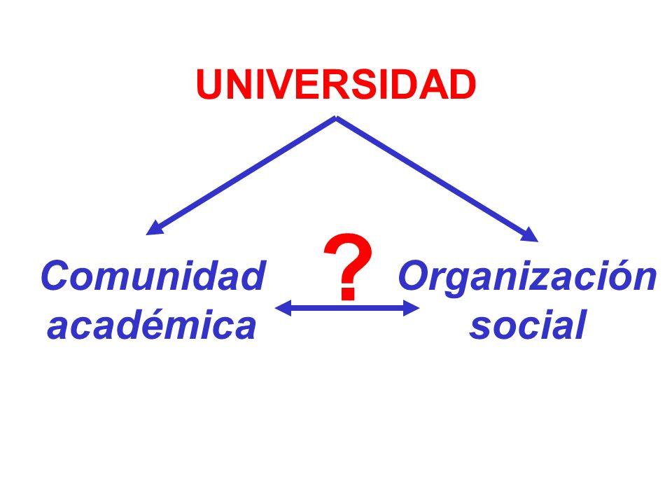 UNIVERSIDAD Comunidad académica Organización social