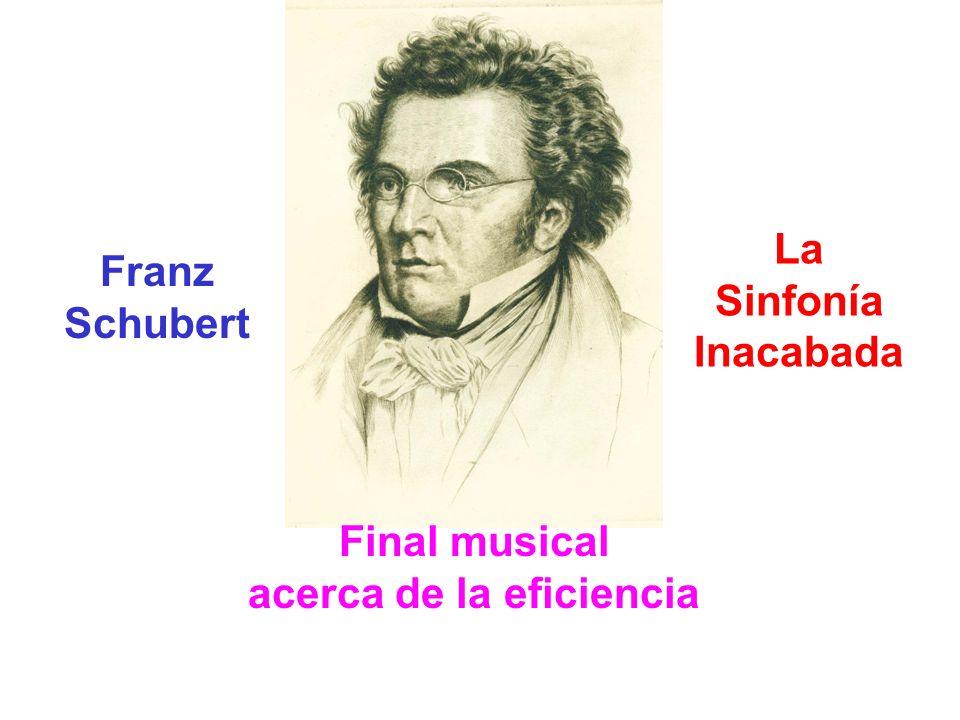 Franz Schubert La Sinfonía Inacabada Final musical acerca de la eficiencia