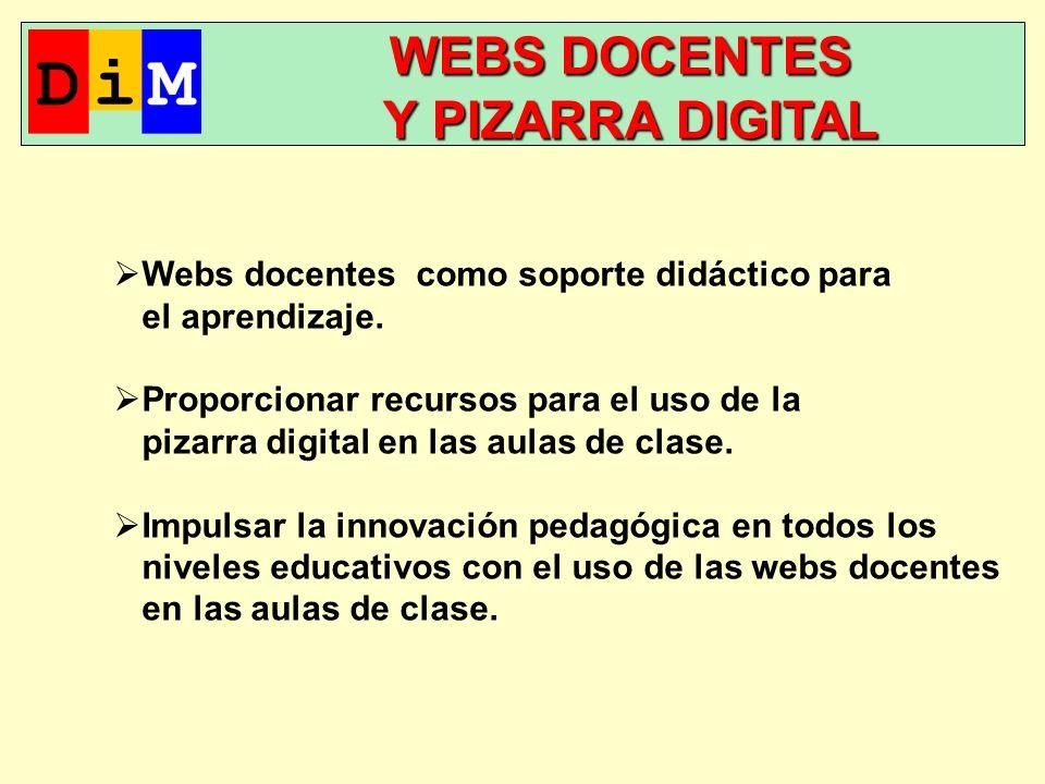 WEBS DOCENTES WEBS DOCENTES Y PIZARRA DIGITAL Y PIZARRA DIGITAL Webs docentes como soporte didáctico para el aprendizaje.