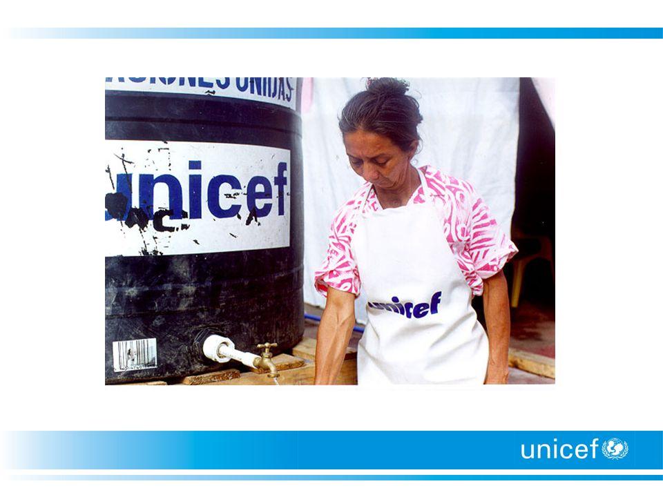 Preparación y Respuesta a emergencias Objetivo: El objetivo general de la planificación ante emergencias de UNICEF es asegurar la supervivencia de los niños y de las mujeres así como su bienestar (cumplimiento de sus derechos básicos) en cualquier situación de emergencia, conforme al mandato de la ONU/ /UNICEF.