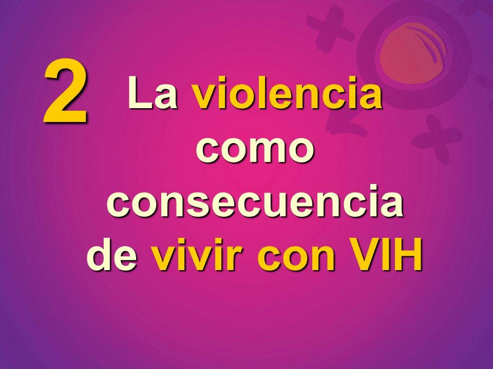 La violencia como consecuencia de vivir con VIH 2
