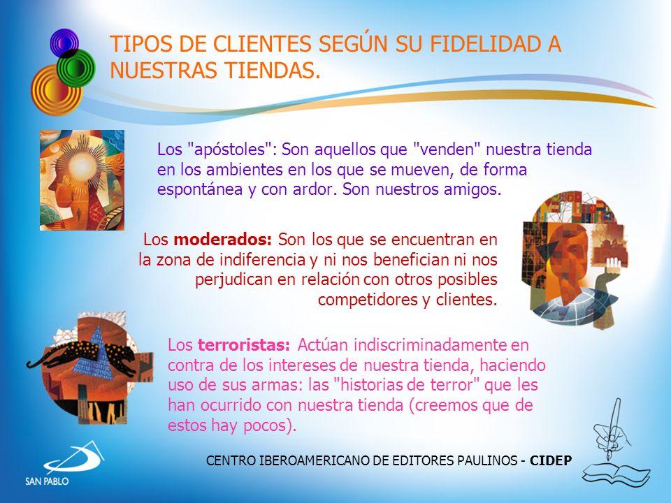 CENTRO IBEROAMERICANO DE EDITORES PAULINOS - CIDEP TIPOS DE CLIENTES SEGÚN SU FIDELIDAD A NUESTRAS TIENDAS. Los