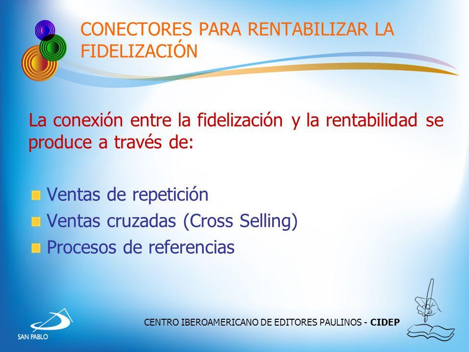 CENTRO IBEROAMERICANO DE EDITORES PAULINOS - CIDEP CONECTORES PARA RENTABILIZAR LA FIDELIZACIÓN La conexión entre la fidelización y la rentabilidad se