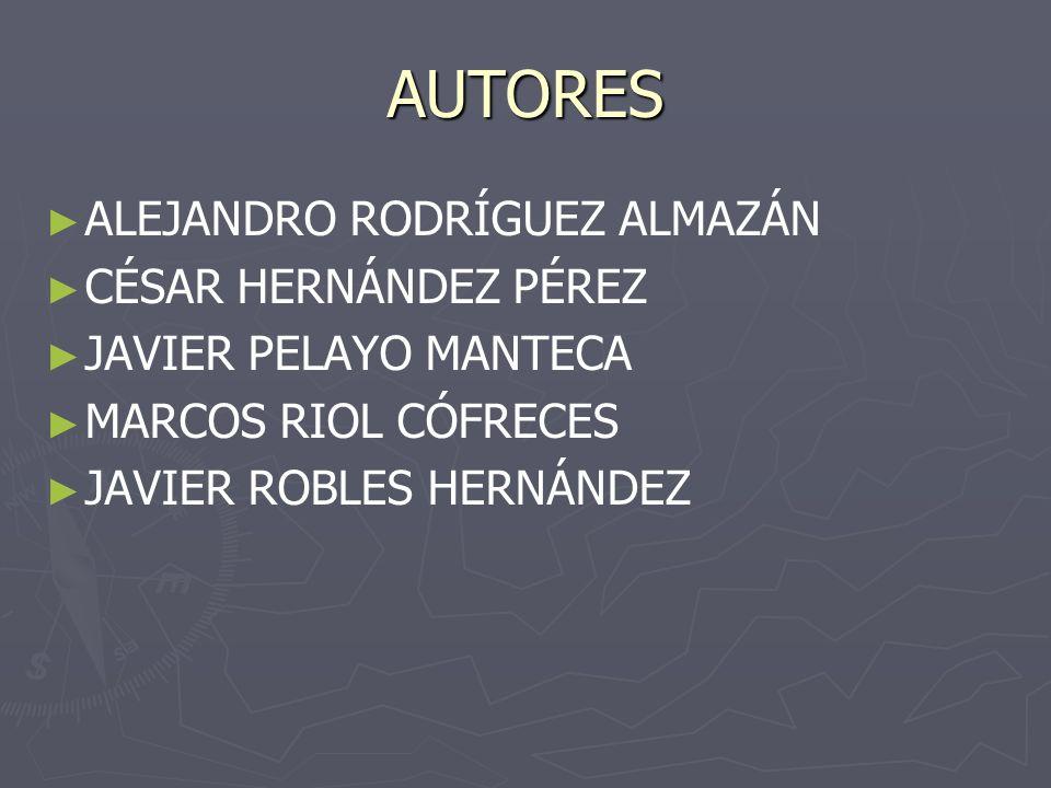 AUTORES ALEJANDRO RODRÍGUEZ ALMAZÁN CÉSAR HERNÁNDEZ PÉREZ JAVIER PELAYO MANTECA MARCOS RIOL CÓFRECES JAVIER ROBLES HERNÁNDEZ