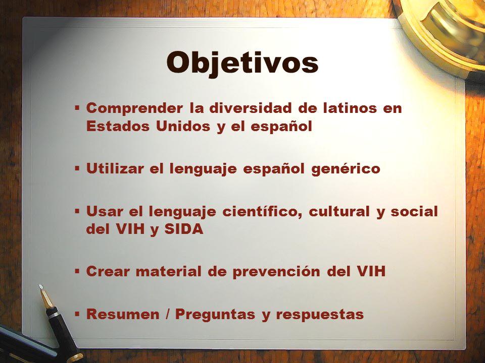 Recursos Páginas de Internet –www.nationalpress.orgwww.nationalpress.org –www.kff.org/hivaids –www.rae.es –www.forum.wordreference.com Manuales –Para conocer e informar: Manual sobre VIH y SIDA para comunicadores sociales (Proyecto: Callao: Redes en lucha contra el SIDA, Perú; www.redsidaperu.org/Materiales/Libros.htm) –HIV/AIDS Reporting Manual de Kaiser Family Foundation; www.kff.org/hivaids/7124.cfm