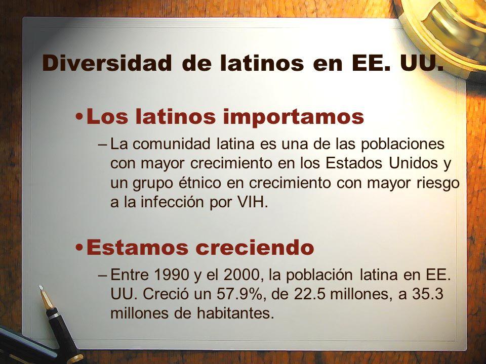 Diversidad de latinos en EE. UU. Los latinos importamos –La comunidad latina es una de las poblaciones con mayor crecimiento en los Estados Unidos y u
