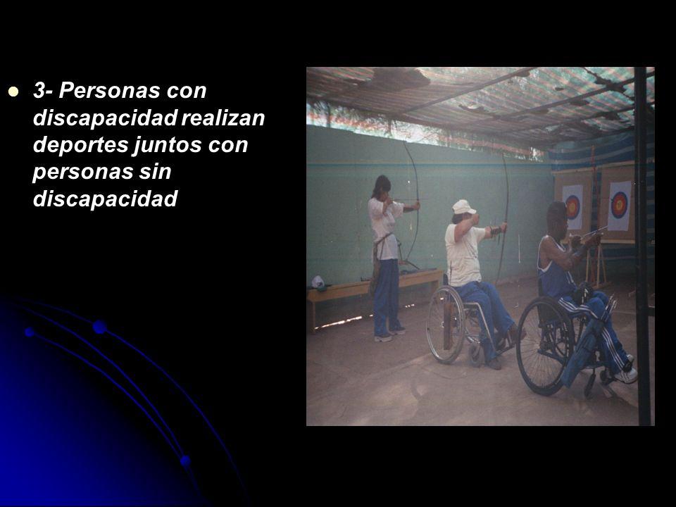 NIVELES DE INTEGRACIÓN Fernando Martín Vicente habla de diferentes niveles de integración de las PCD a través del deporte. 1- La PCD participa en el D