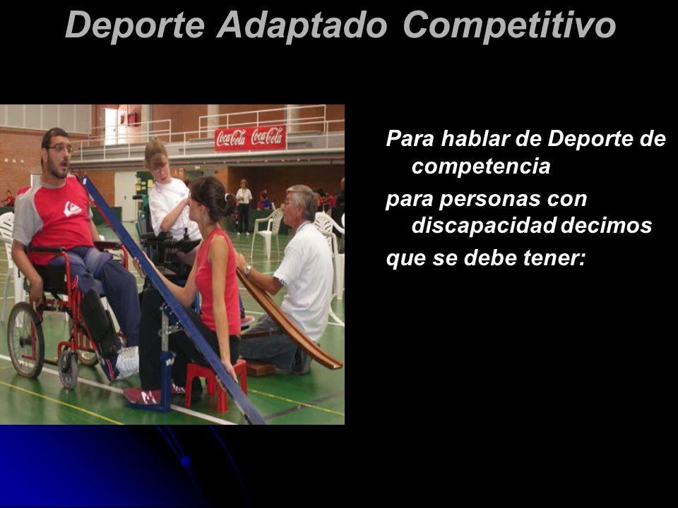 Para iniciar un programa de Deporte Terapéutico, deberemos tener conocimiento de las características generales de su deficiencia