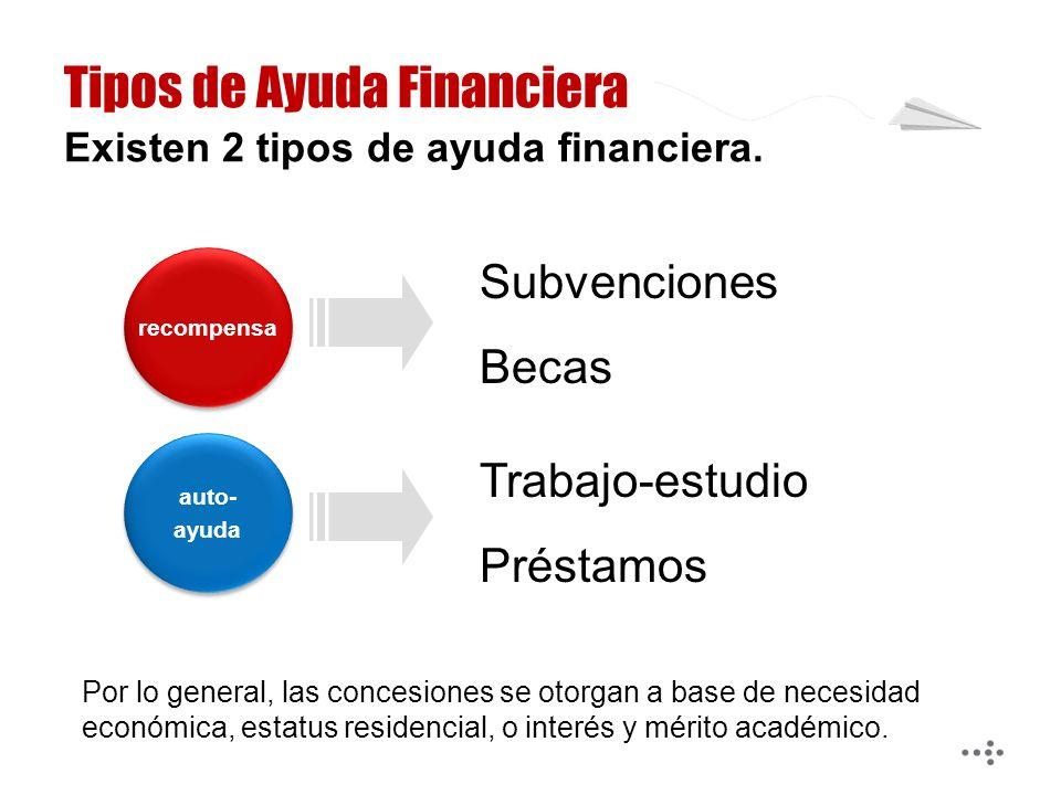 Por lo general, las concesiones se otorgan a base de necesidad económica, estatus residencial, o interés y mérito académico.