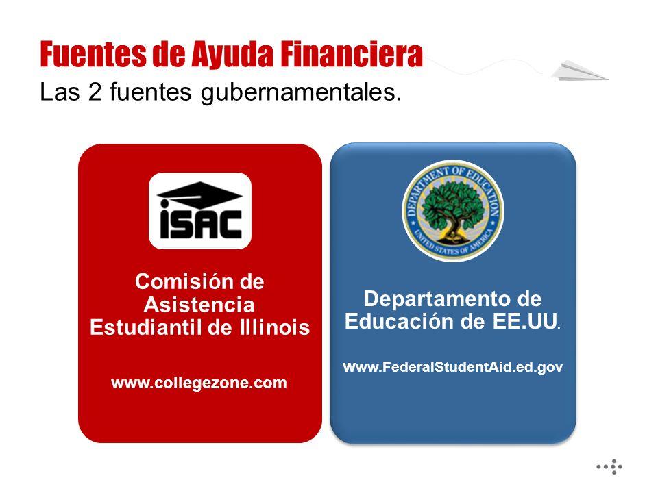 Comisi ó n de Asistencia Estudiantil de Illinois www.collegezone.com Departamento de Educaci ó n de EE.UU.