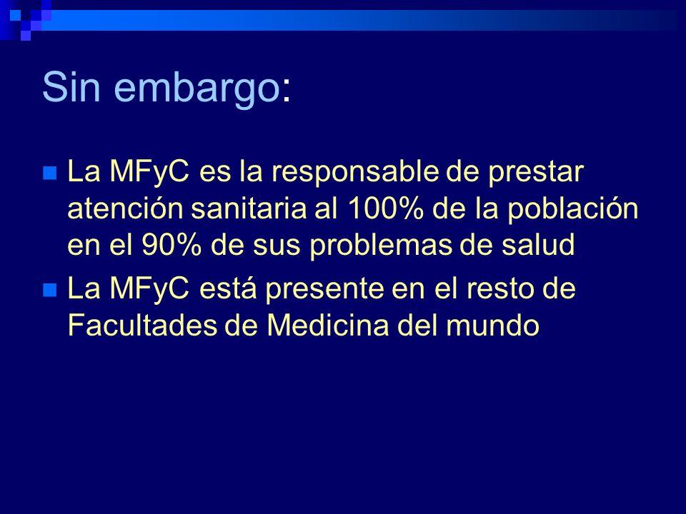 Así en todos los países desarrollados sus Facultades de Medicina tienen Departamentos y Profesores de Medicina de Familia.