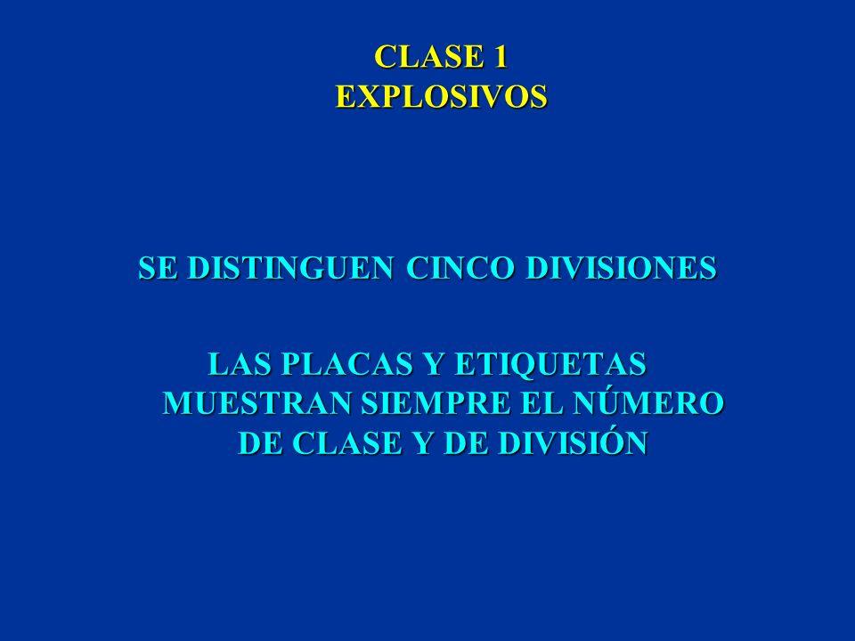 CLASE 1 EXPLOSIVOS COMPRENDE SUSTANCIAS EXPLOSIVAS SUSTANCIAS EXPLOSIVAS ARTÍCULOS EXPLOSIVOS ARTÍCULOS EXPLOSIVOS SUSTANCIAS QUE PRODUCEN EFECTO EXPL