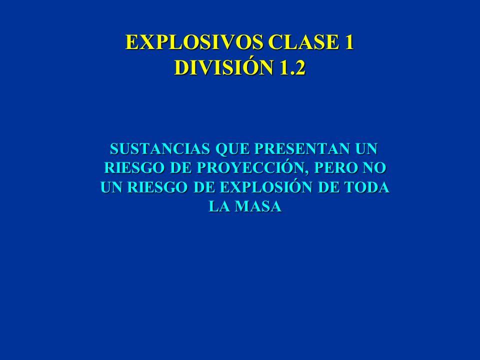 EXPLOSIVOS CLASE 1 DIVISIÓN 1.1 SUSTANCIAS QUE PRESENTAN UN RIESGO DE EXPLOSIÓN DE TODA LA MASA