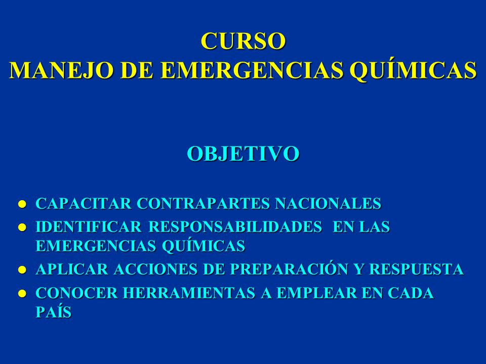 ORGANIZACIÓN PANAMERICANA DE LA SALUD PROGRAMA DE PREPARATIVOS PARA CASOS DE DESASTRES TEMA CLASIFICACIÓN E IDENTIFICACIÓN DE MATERIALES PELIGROSOS IN