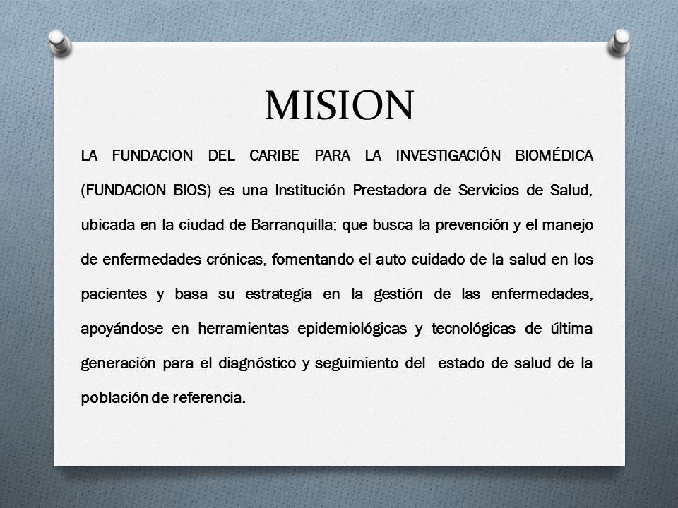 MISION LA FUNDACION DEL CARIBE PARA LA INVESTIGACIÓN BIOMÉDICA (FUNDACION BIOS) es una Institución Prestadora de Servicios de Salud, ubicada en la ciu