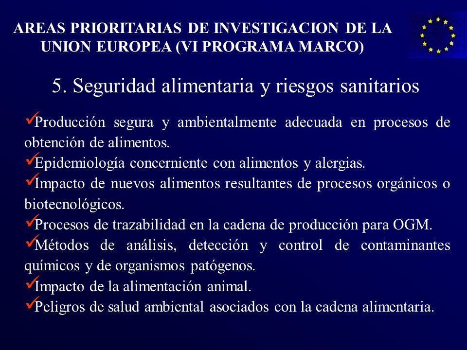 Producción segura y ambientalmente adecuada en procesos de obtención de alimentos. Epidemiología concerniente con alimentos y alergias. Impacto de nue