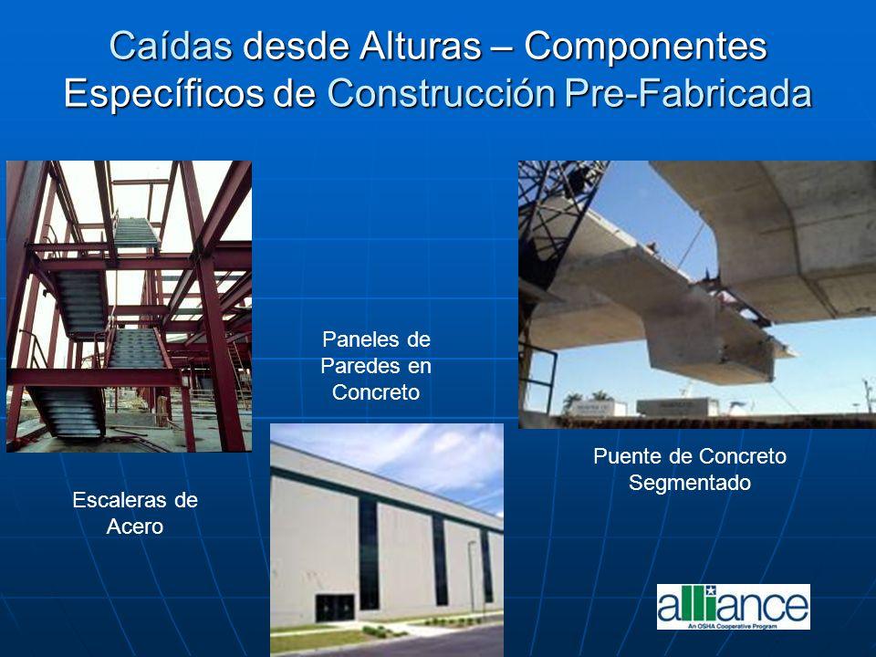 Caídas desde Alturas – Componentes Específicos de Construcción Pre-Fabricada Escaleras de Acero Paneles de Paredes en Concreto Puente de Concreto Segm