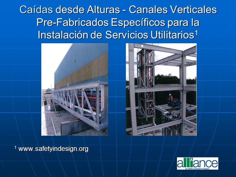 Caídas desde Alturas - Canales Verticales Pre-Fabricados Específicos para la Instalación de Servicios Utilitarios 1 1 www.safetyindesign.org
