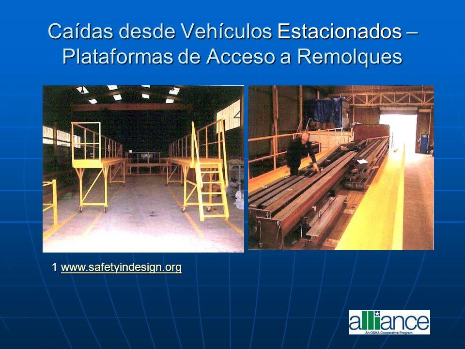 Caídas desde Vehículos Estacionados – Plataformas de Acceso a Remolques 1 www.safetyindesign.org www.safetyindesign.org