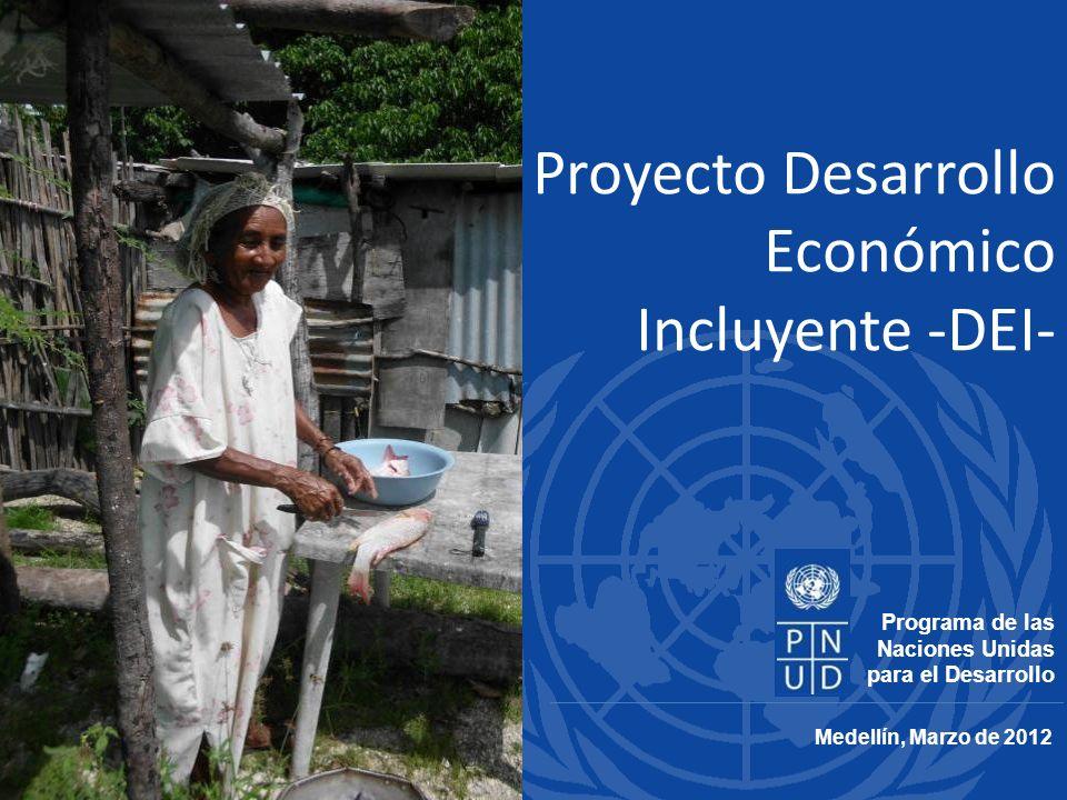 Proyecto Desarrollo Económico Incluyente -DEI- Medellín, Marzo de 2012 Programa de las Naciones Unidas para el Desarrollo