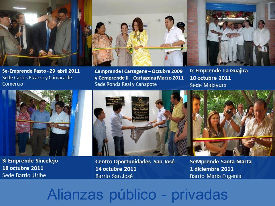 Cemprende I Cartagena – Octubre 2009 y Cemprende II – Cartagena Marzo 2011 Sede Ronda Real y Canapote Se-Emprende Pasto - 29 abril 2011 Sede Carlos Pi