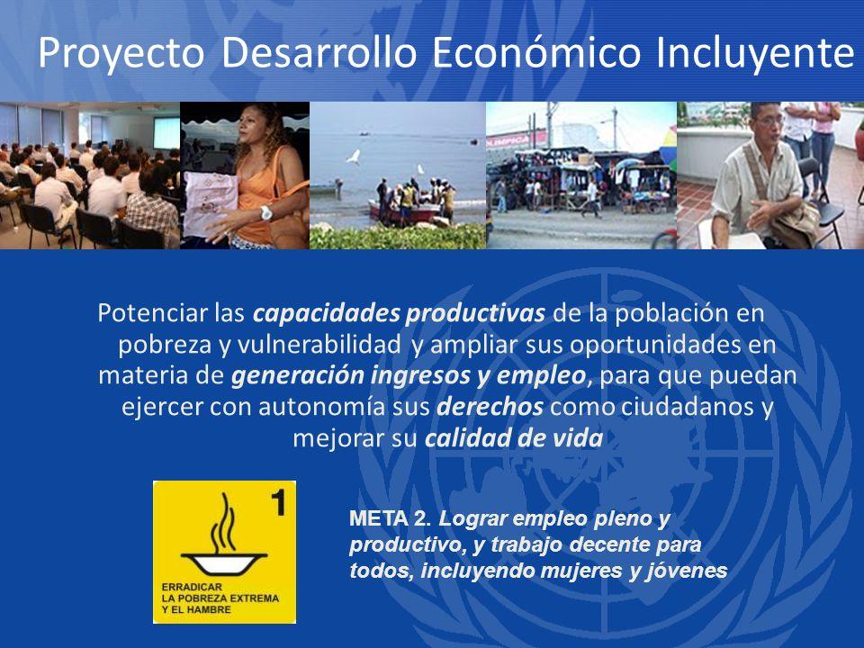 Potenciar las capacidades productivas de la población en pobreza y vulnerabilidad y ampliar sus oportunidades en materia de generación ingresos y empl