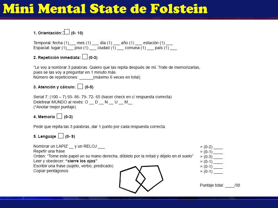 Mini Mental State de Folstein