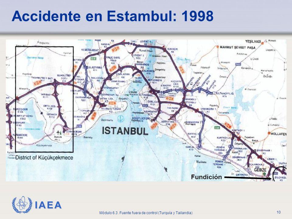 IAEA Módulo 6.3. Fuente fuera de control (Turquía y Tailandia) 10 Accidente en Estambul: 1998 Fundición
