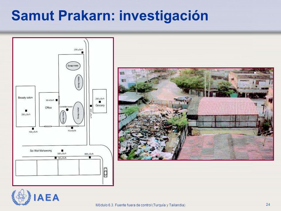 IAEA Módulo 6.3. Fuente fuera de control (Turquía y Tailandia) 24 Samut Prakarn: investigación