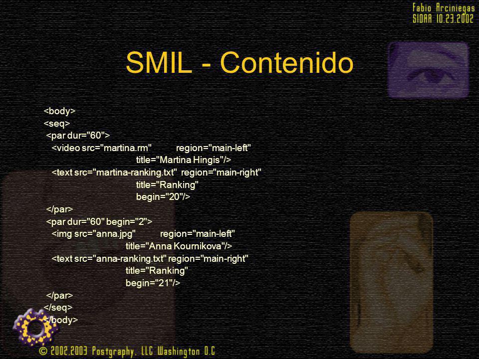 SMIL - Contenido <video src=