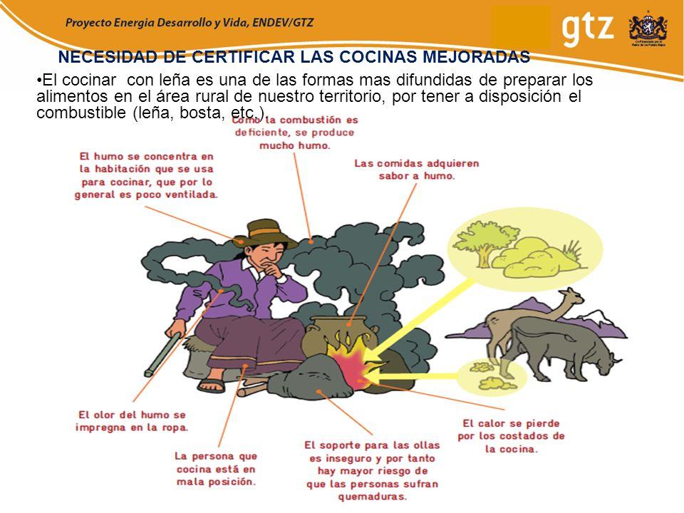 El cocinar con leña es una de las formas mas difundidas de preparar los alimentos en el área rural de nuestro territorio, por tener a disposición el c