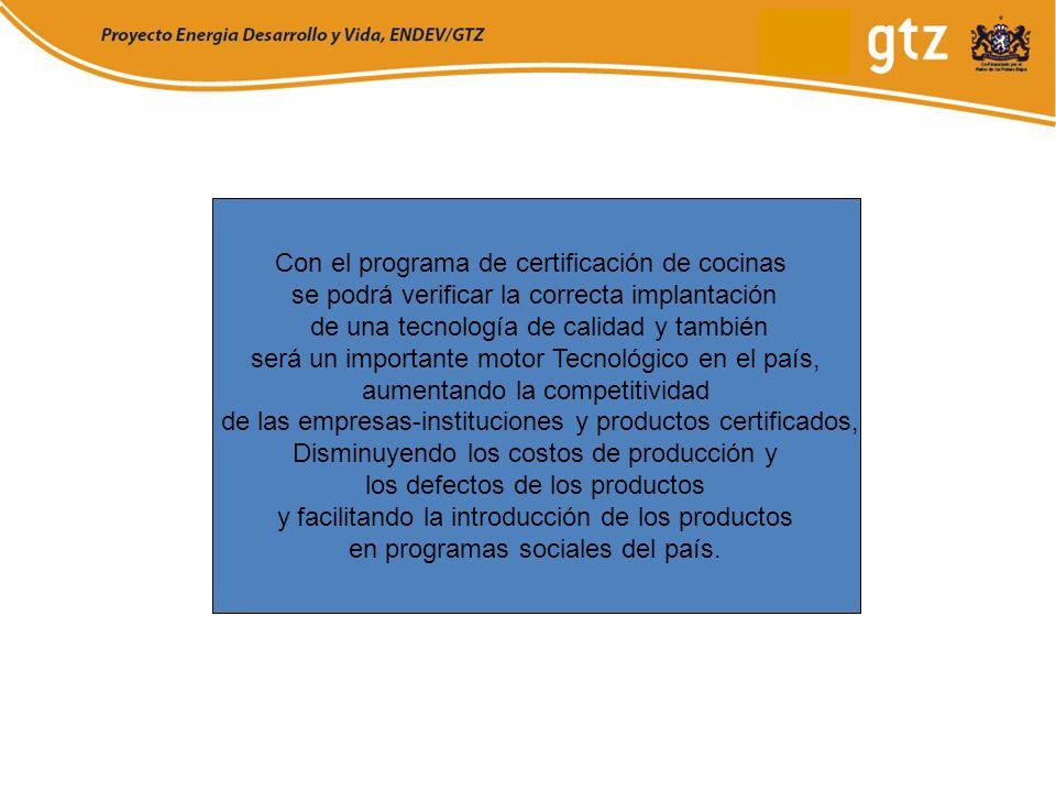 Con el programa de certificación de cocinas se podrá verificar la correcta implantación de una tecnología de calidad y también será un importante moto