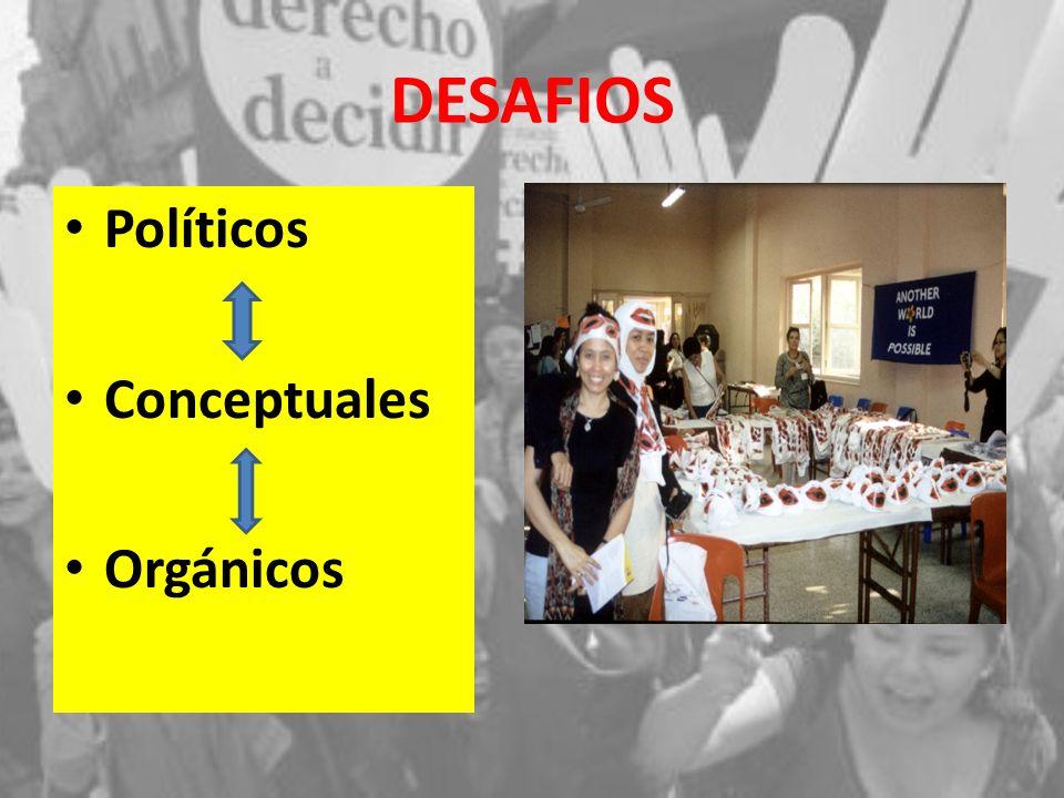 DESAFIOS Políticos Conceptuales Orgánicos