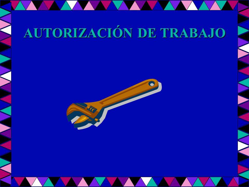AUTORIZACIÓN DE TRABAJO