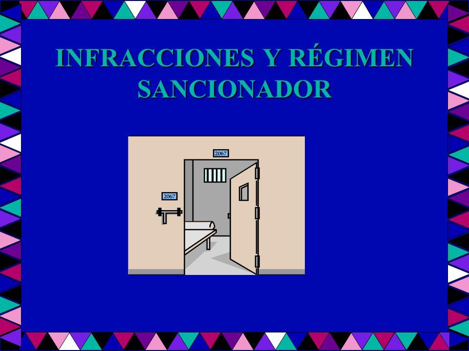 INFRACCIONES Y RÉGIMEN SANCIONADOR
