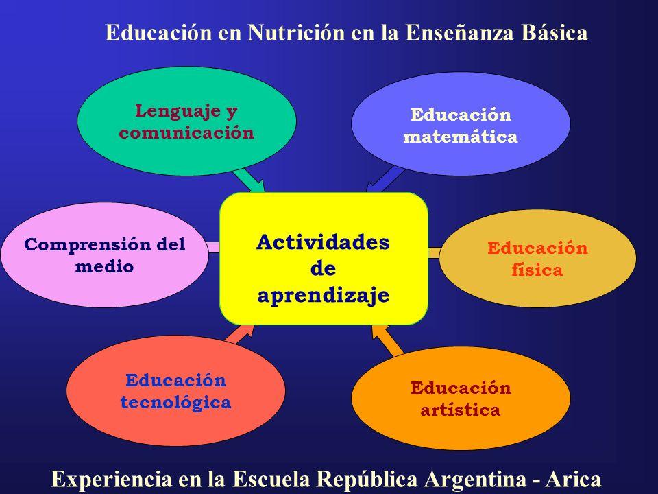 Lenguaje y comunicación Educación física Educación matemática Educación artística Educación tecnológica Comprensión del medio Conocimiento de sí mismo