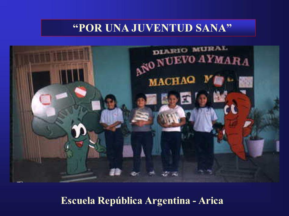 POR UNA JUVENTUD SANA Escuela República Argentina - Arica