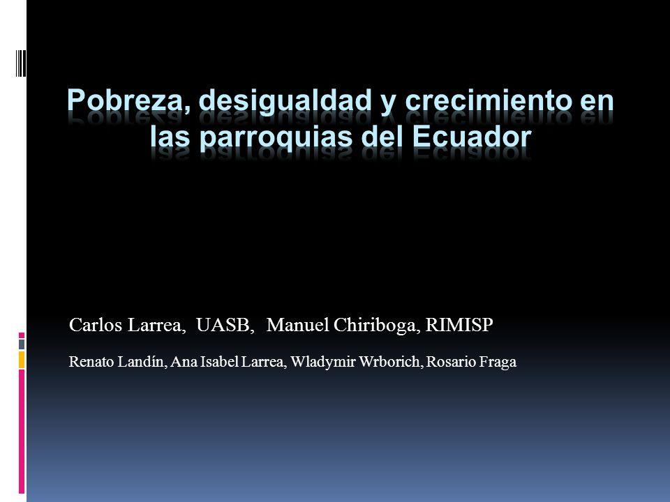 Carlos Larrea, UASB, Manuel Chiriboga, RIMISP Renato Landín, Ana Isabel Larrea, Wladymir Wrborich, Rosario Fraga