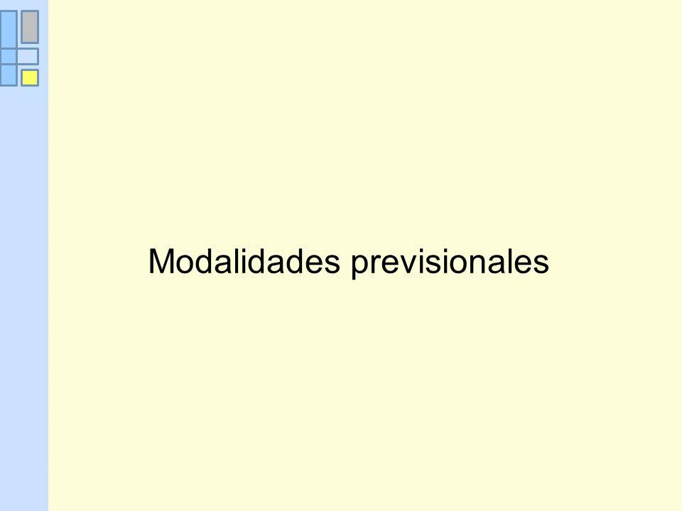 Modalidades previsionales