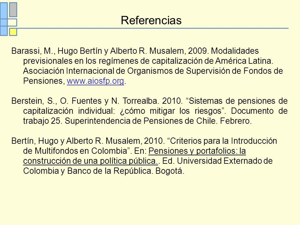 Referencias Barassi, M., Hugo Bertín y Alberto R. Musalem, 2009.