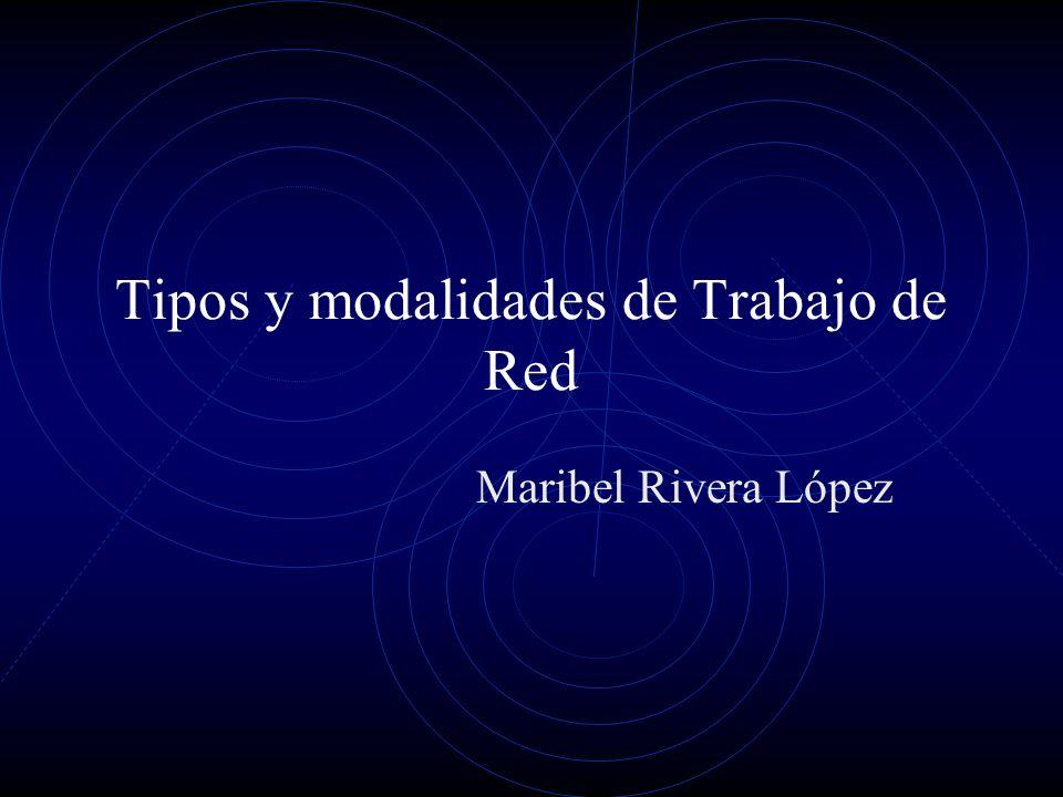 Tipos y modalidades de Trabajo de Red Maribel Rivera López