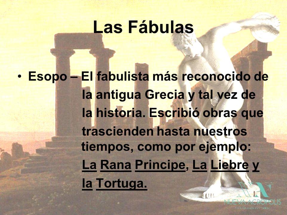 Las Fábulas Esopo – El fabulista más reconocido de la antigua Grecia y tal vez de la historia. Escribió obras que trascienden hasta nuestros tiempos,