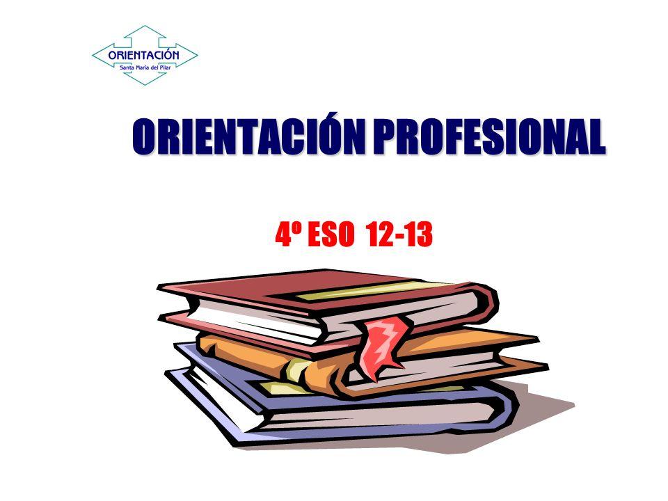 ORIENTACIÓN PROFESIONAL 4º ESO 12-13