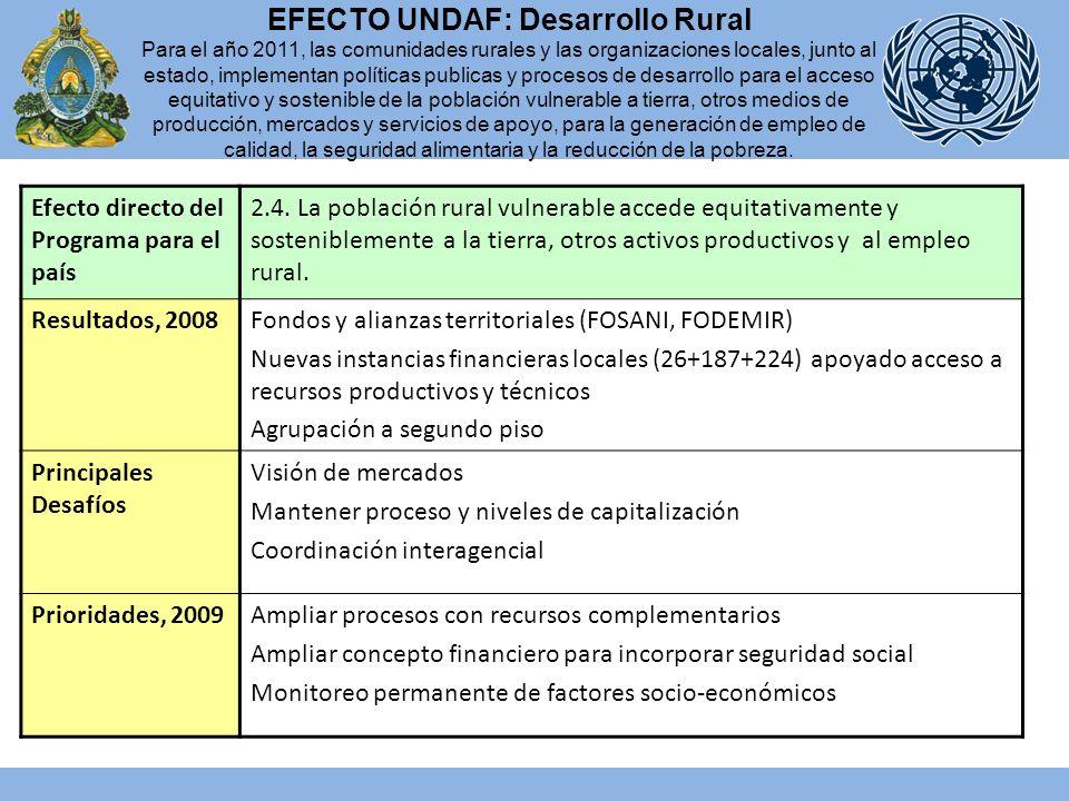 Efecto directo del Programa para el país 2.4.
