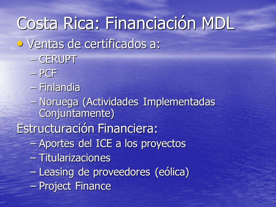 Estructura de ingresos: Landfill Depende del objetivo del proyecto Depende del objetivo del proyecto El atractivo del retorno inclina al inversionista