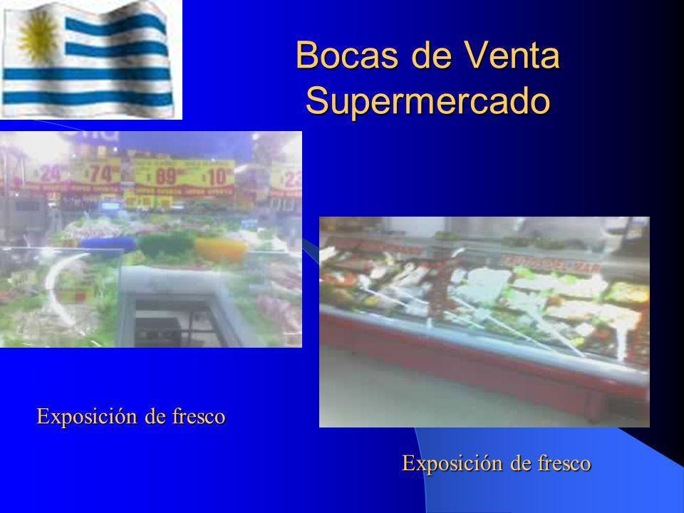 Bocas de Venta Supermercados Muestra de congelados Feria de productos frescos
